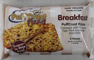 PuffCrust Pizza Breakfast packaging